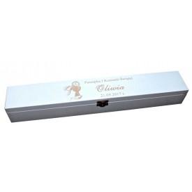 Drewniane pudełko na świece z grawerem